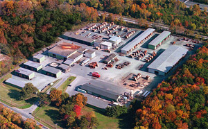 Maryland lumberyard aerial view