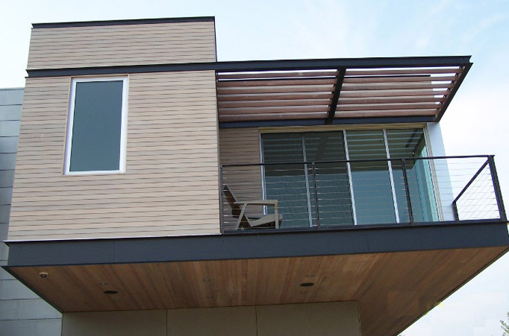 Western Red Cedar siding and eaves